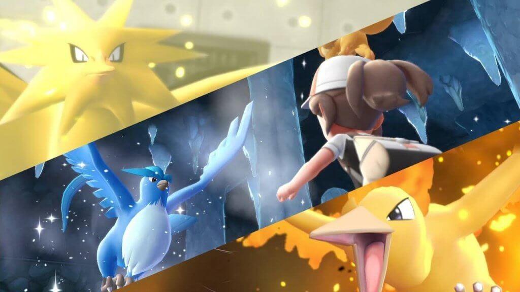 Nuevo trailer de Pokémon Let's Go, Pikachu y Eevee mostrando a las aves legendarias
