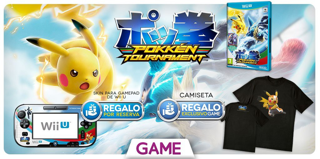 Regalos especiales al reservar Pokkén Tournament en GAME