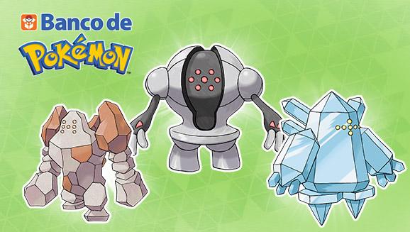 Consigue a Regirock, Regice y Registeel en el Banco de Pokémon