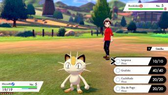 Meowth de evento Pokémon Espada y Escudo