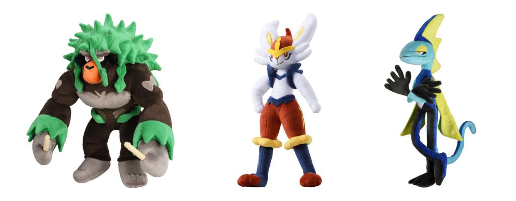 Anunciados los peluches de Rillaboom, Cinderace e Inteleon para el Pokémon Center online de Japón