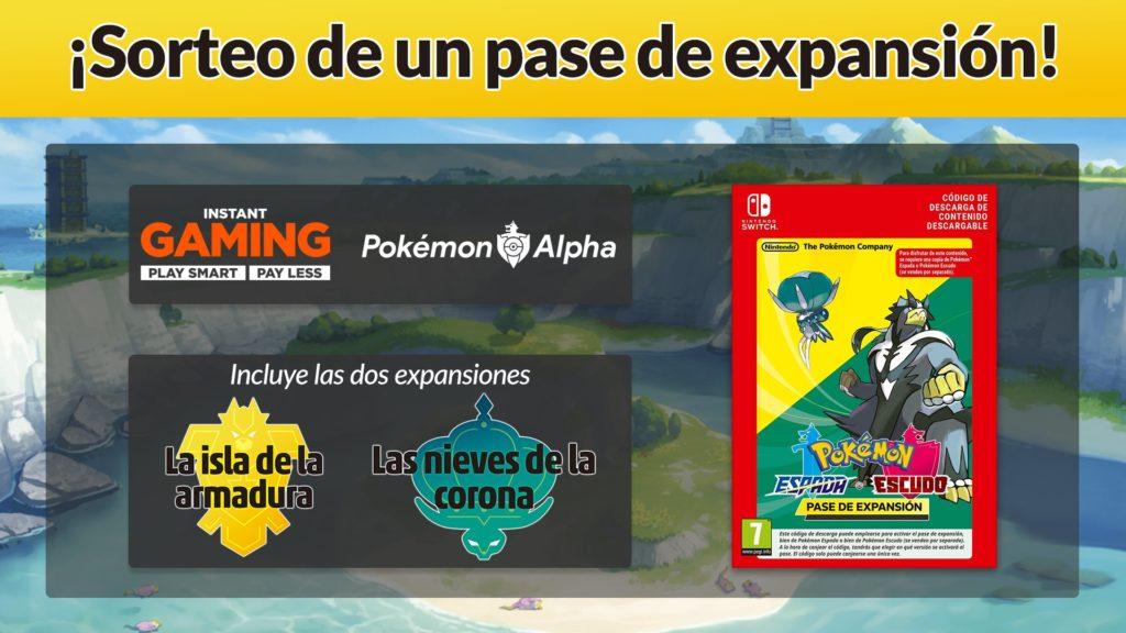 Sorteamos un pase de expansión para Pokémon Espada y Escudo junto a Instant Gaming