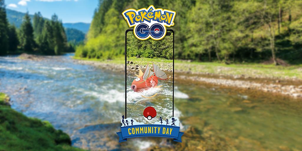 El próximo Día de la Comunidad de Pokémon GO estará protagonizado por Magikarp
