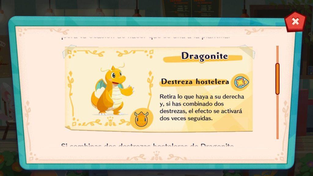 Dragonite llega a Pokémon Café Mix en un evento temporal
