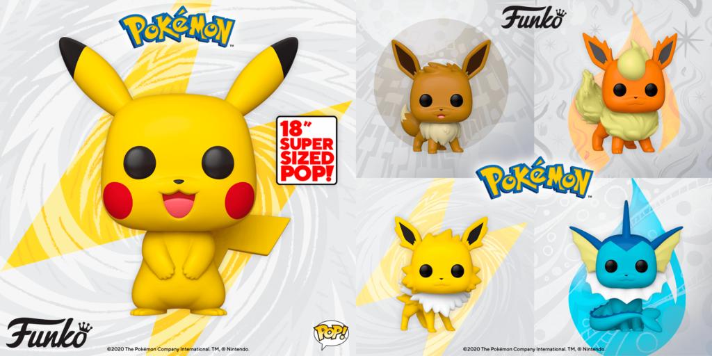 La marca Funko ha anunciado nuevas figuras Funko Pop! de Eevee y un Pikachu gigante