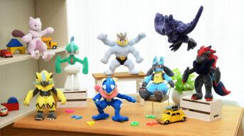 peluches pokémon posing