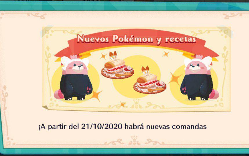 Pokémon Café Mix recibe nuevas comandas, un Pokémon nuevo y un lote de Halloween