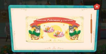 pokemon cafe mix gogoat y receta de sylveon