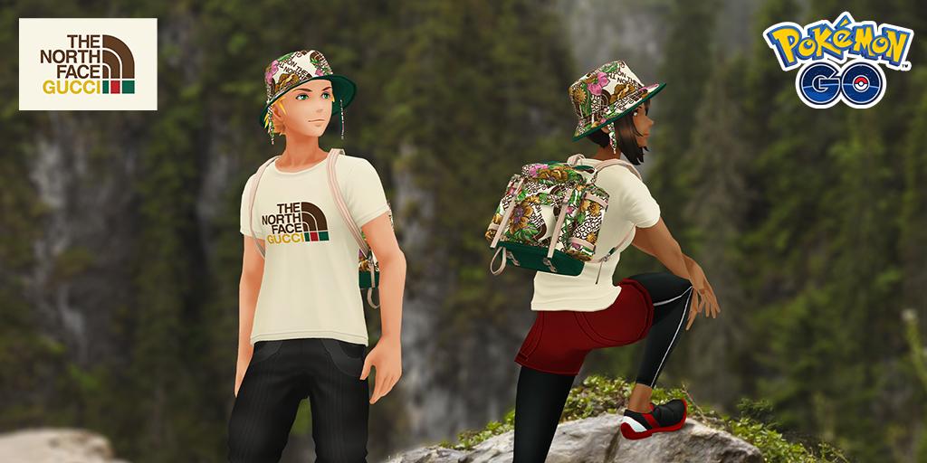 Nueva ropa de The North Face x Gucci y desafíos de colección en Pokémon GO