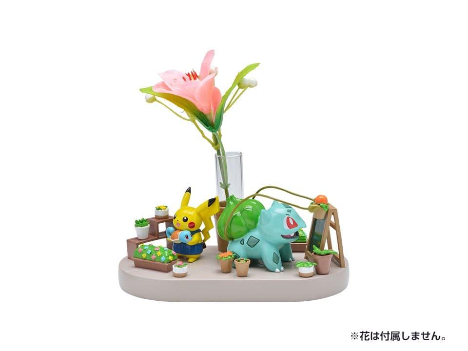 Maceta con figuras de Pikachu y Bulbasaur