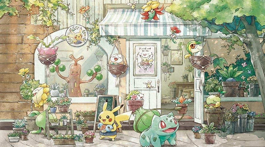Ilustración de la colección Pokémon Grassy Gardering