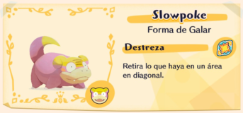 Slowpoke de Galar en Pokémon Café Mix