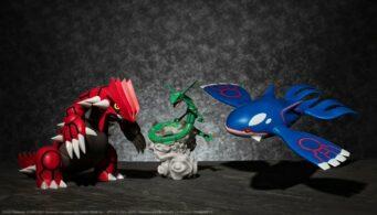Groudon, Rayquaza y Kyogre, Pokémon Scale World de Bandai