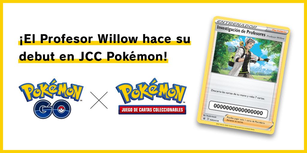 Nueva información sobre la carta del Profesor Willow en Pokémon TCG