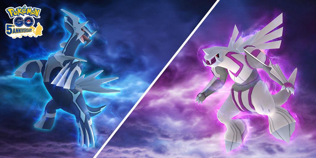 Dialga y Palkia variocolores llegarán a Pokémon GO con el Ultrabonus