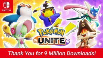 pokémon unite 9 millones de descargas nintendo switch