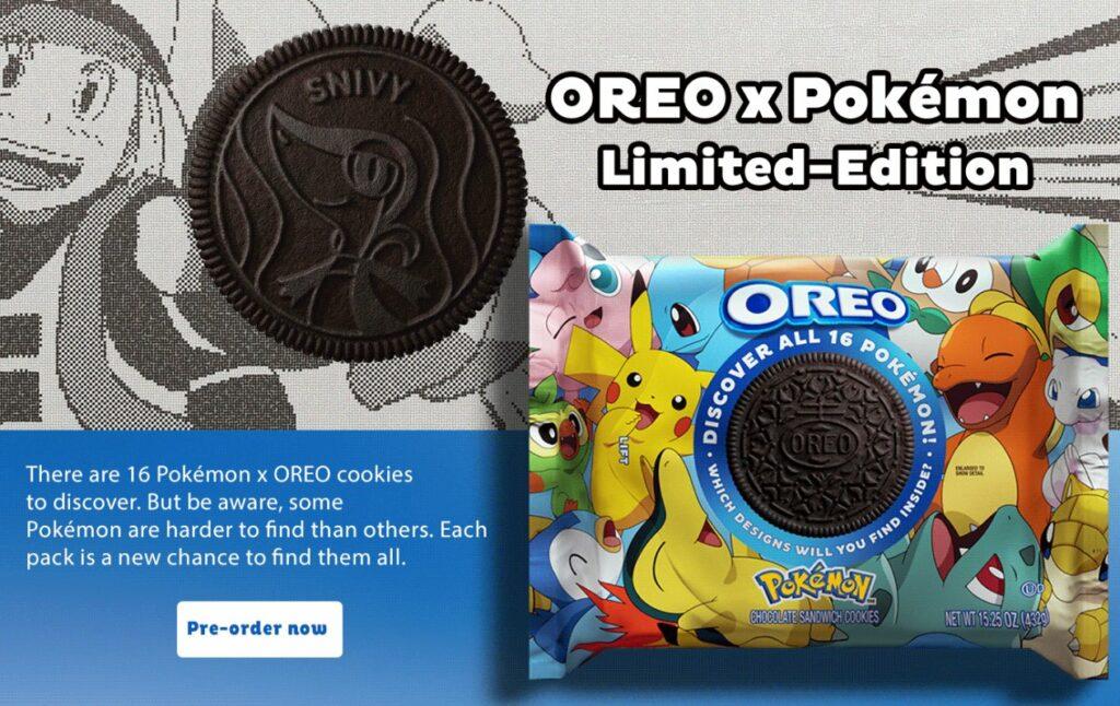 Oreo y Pokémon anuncian su nueva colaboración de galletas decoradas con Pokémon