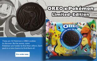 promoción de galletas oreo con pokémon