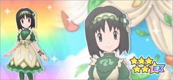 Erika Traje S con Leafeon en Pokémon Masters (2)