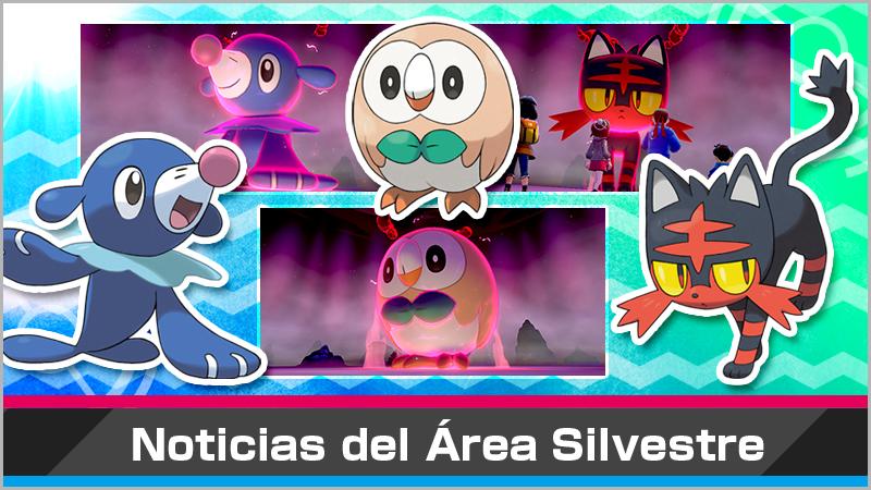 Evento de incursiones Dinamax con los iniciales de Alola en Pokémon Espada y Escudo