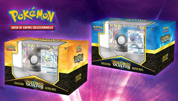 Zoroark-GX variocolor y Metagross-GX variocolor en la colección Poké Ball de Destinos Ocultos