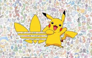 Pikachu y logo Adidas