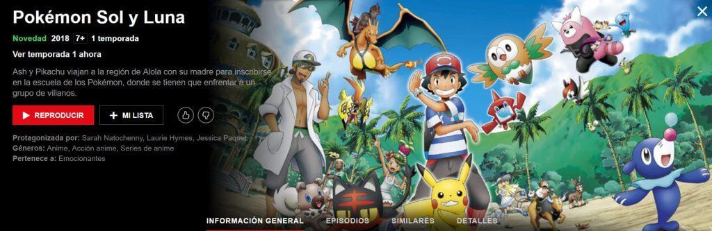 El anime de Pokémon Sol y Luna ya disponible en Netflix