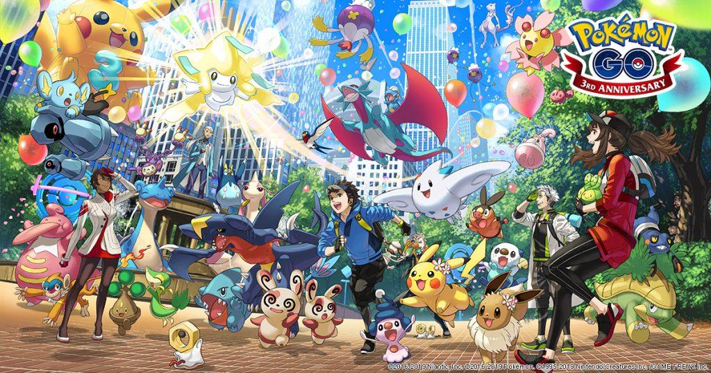 Celebra el tercer aniversario de Pokémon GO con estas novedades que llegarán a partir de mañana