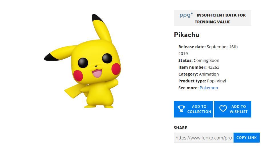 Anunciada una nueva figura Funko Pop de Pikachu