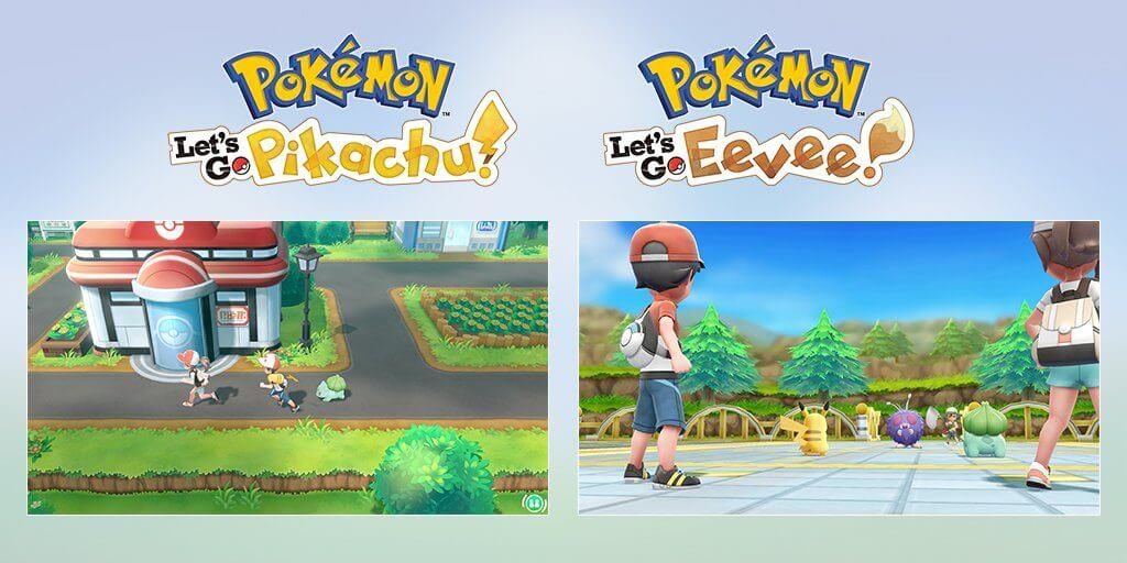 Pokémon Let's Go Pikachu! y Pokémon Let's Go Eevee! logra vender 3 millones de unidades