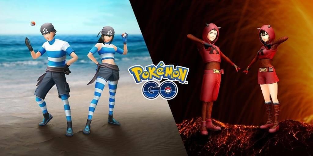 Nuevos trajes del Team Aqua y Team Magma en Pokémon GO