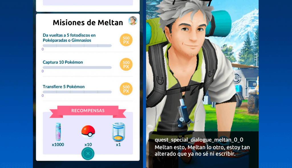 Ya disponible la misión especial de Meltan en Pokémon GO