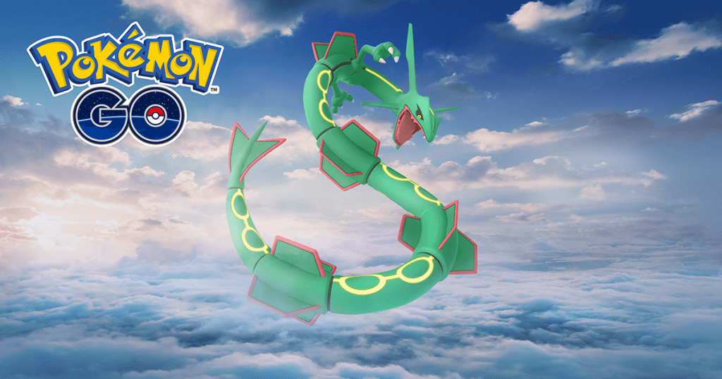 Vuelve Rayquaza a Pokémon GO, pero se les acabó la pintura negra