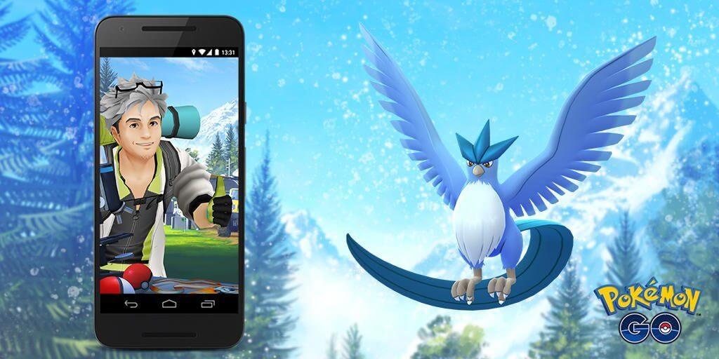 Articuno llegará a las investigaciones de campo en Pokémon GO