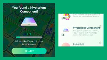 pokemon go misterioso componentes